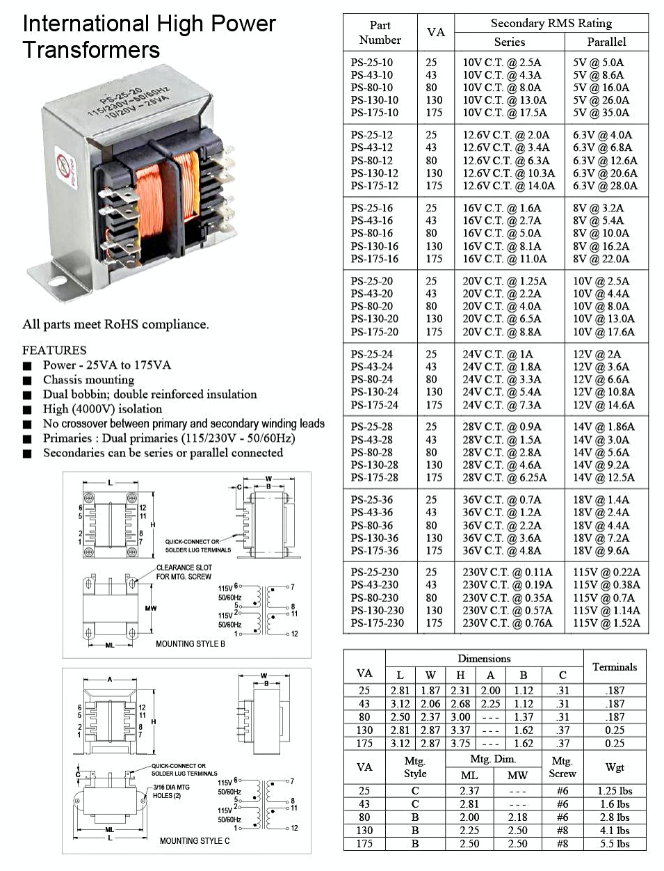 VDE Transformers spec sheet copy resize